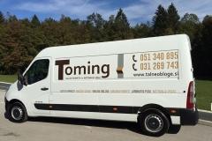 Polepitev za Toming